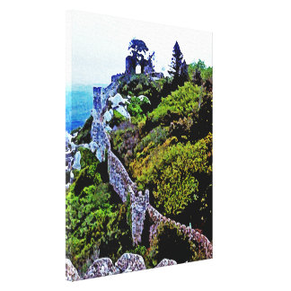 Castle in Sintra Portugal Canvas Print