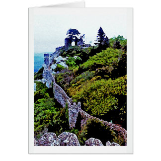Castle in Sintra Portugal Greeting Cards