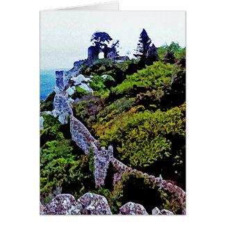 Castle in Sintra Portugal Card