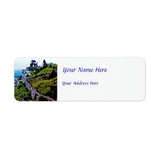 Castle in Sintra Portugal Custom Return Address Labels