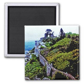 Castle in Sintra Portugal Fridge Magnet