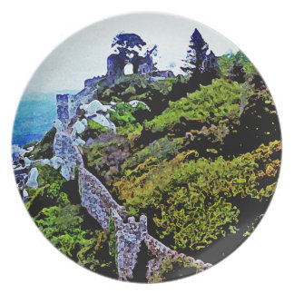 Castle in Sintra Portugal Party Plate