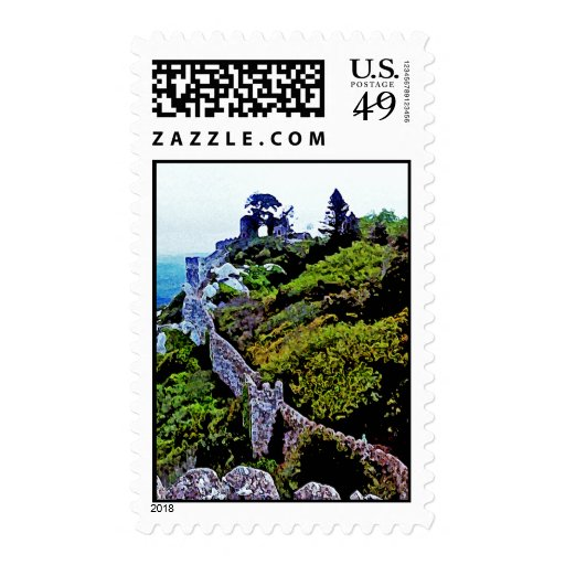 Castle in Sintra Portugal Postage Stamp