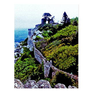 Castle in Sintra Portugal Postcard