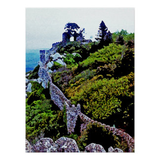 Castle in Sintra Portugal Poster