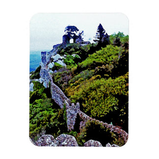 Castle in Sintra Portugal Rectangular Photo Magnet