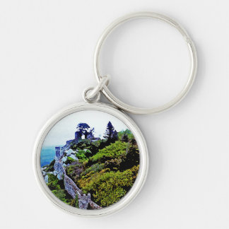 Castle in Sintra Portugal Silver-Colored Round Keychain
