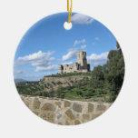 Castle in Spain Christmas Tree Ornament