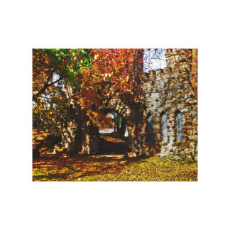 Castle in the fall canvas print