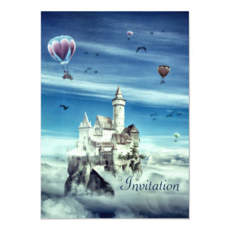 Castle in the Sky -  Birthday Invitation