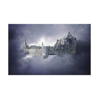 Castle in the sky gallery wrapped canvas