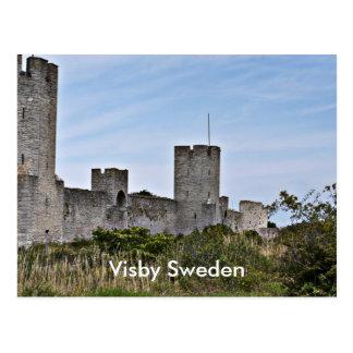 Castle in Visby, Visby Gotland Sweden Postcard