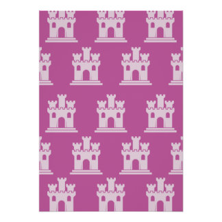 Castle Magenta Pink Print