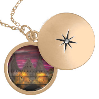 Castle - Meet me by the Rabot Sluice Gold Plated Necklace