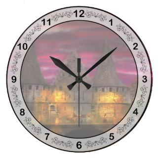 Castle - Meet me by the Rabot Sluice Large Clock