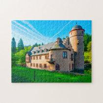 Castle Mespelbrunn Bavaria Germany. Jigsaw Puzzle