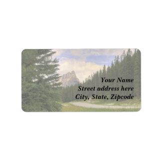 Castle Mountain Banff Label