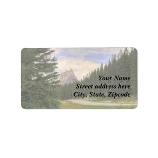 Castle Mountain Banff Address Label