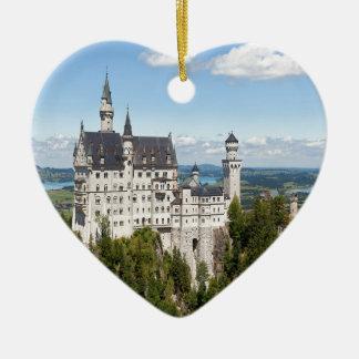 Castle Neuschwanstein at Schwangau Bavaria German Ceramic Ornament