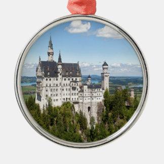 Castle Neuschwanstein at Schwangau Bavaria German Metal Ornament
