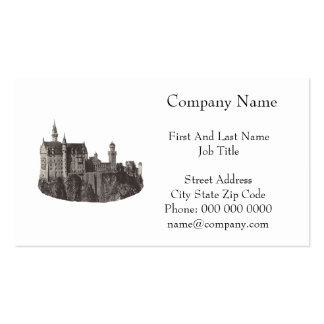 Castle Neuschwanstein Black and White Photograph Double-Sided Standard Business Cards (Pack Of 100)