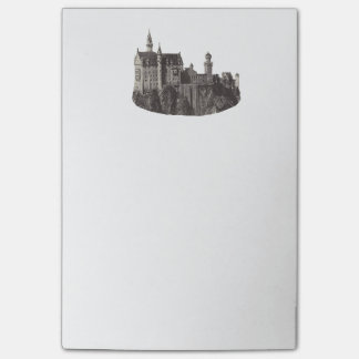 Castle Neuschwanstein Black and White Photograph Post-it Notes