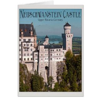 Castle Neuschwanstein from Marienbrücke - English Greeting Card
