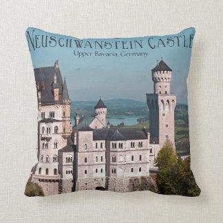 Castle Neuschwanstein from Marienbrücke - English Throw Pillows