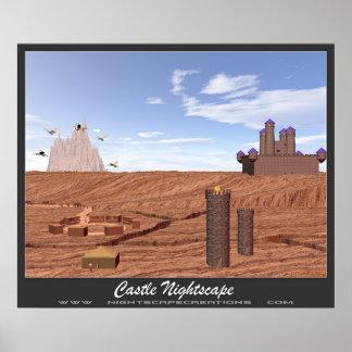 Castle Nightscape Poster