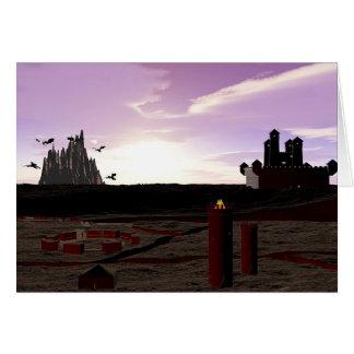 Castle Nightscape Sunrise Card