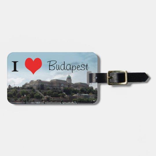 Castle of Buda -  I heart Budapest Luggage Tag
