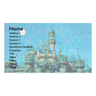 Castle of Dreams template Double-Sided Standard Business Cards (Pack Of 100)