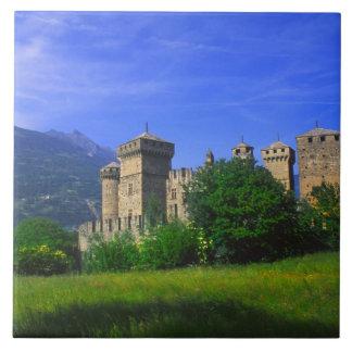 Castle of Fenis near Italian Alps in Fenis, Ceramic Tile