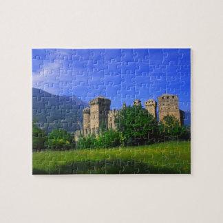 Castle of Fenis near Italian Alps in Fenis, Jigsaw Puzzle