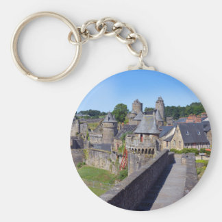 Castle of Fougères in France Basic Round Button Keychain