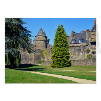 Castle of Fougères in France Card