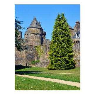 Castle of Fougères in France Postcard
