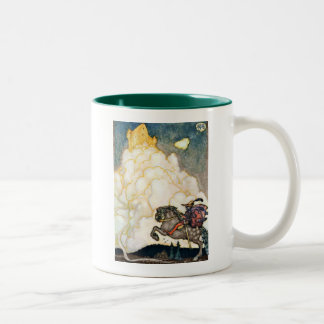 Castle of Rosy Clouds Two-Tone Coffee Mug