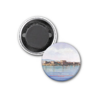 Castle of San Antón (To Corunna) 1 Inch Round Magnet