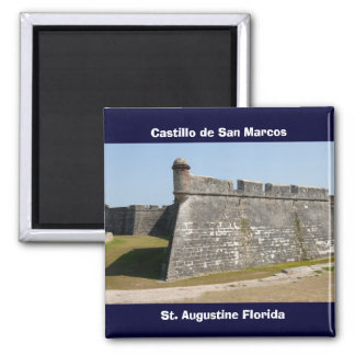 castle of san marcos 2 inch square magnet