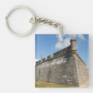 Castle of San Marcos St. Augustine, Fl. Single-Sided Square Acrylic Keychain