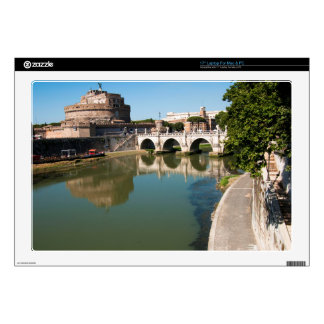 """Castle of the Holy Angel from a bridge Decal For 17"""" Laptop"""