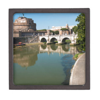 Castle of the Holy Angel from a bridge Jewelry Box