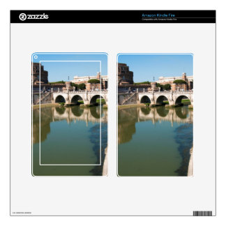 Castle of the Holy Angel from a bridge Kindle Fire Skin