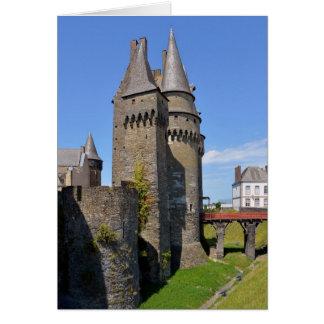 Castle of Vitré in France Card