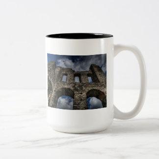 Castle Old Ruins Medieval History Teacher Class Two-Tone Coffee Mug
