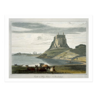 Castle on Holy Island, Northumberland, from 'A Voy Postcard