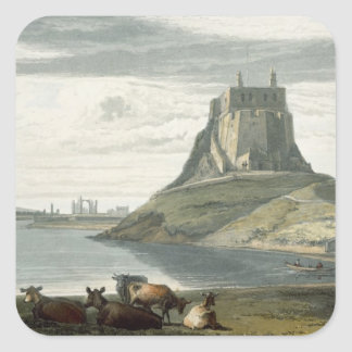 Castle on Holy Island, Northumberland, from 'A Voy Square Sticker