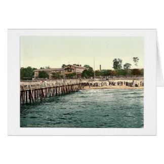 Castle on the beach and bridge, Colberg, Pommerain Card