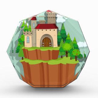 Castle on the island acrylic award